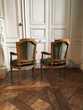Paire de fauteuils d'époque Louis XVI XVIIIème velours soie Meubles