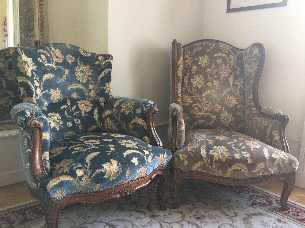 Paire de fauteuils tapisserie grand confort 300 Aix-les-Bains (73)