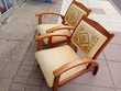 Paire de fauteuils vintage en noyer Meubles