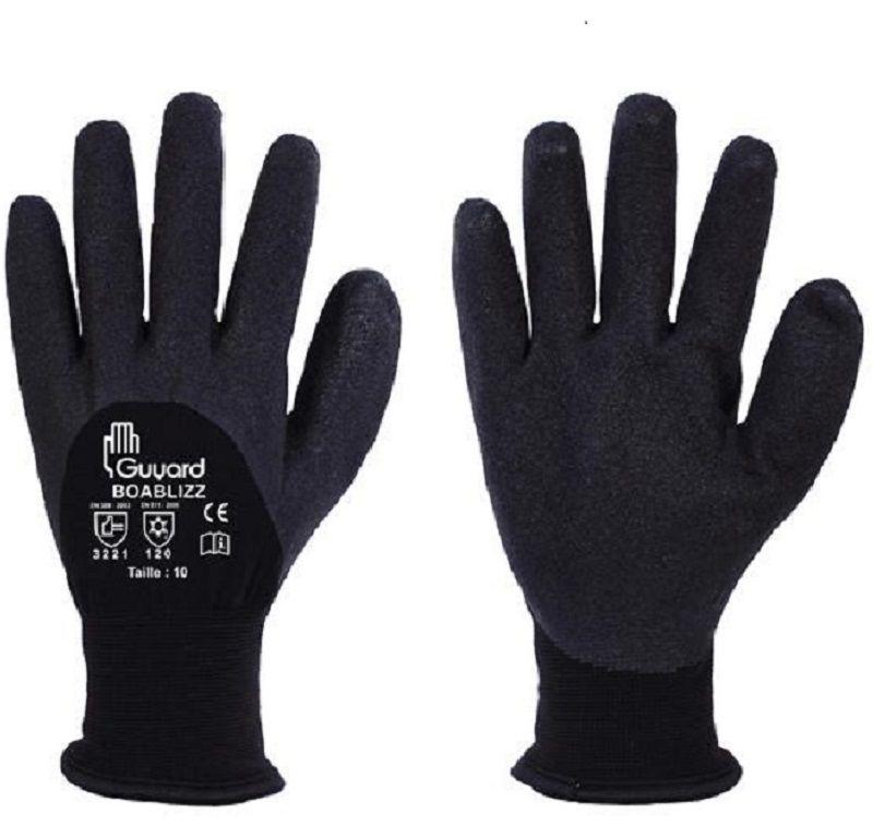 paire de gant de travail FOURRÉ ANTI FROID T-9/10 gant termo COMME NINJA 3 Lens (62)