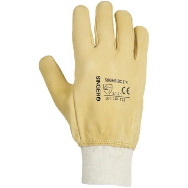 2 Paire de gant de travail tout fleur de bovin Hydrofuge Protège-artère T - 8 20 Lens (62)
