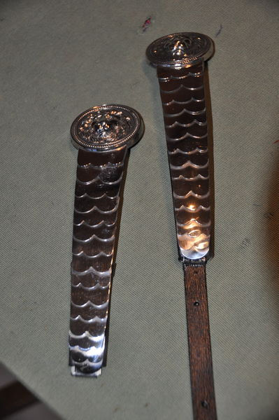Paire de jugulaire de casque de gendarme 1912 150 Saint-André-les-Vergers (10)