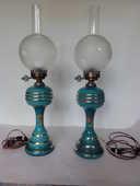 paire de lampes à pétrole électrifiés napoléon III 135 Nanterre (92)