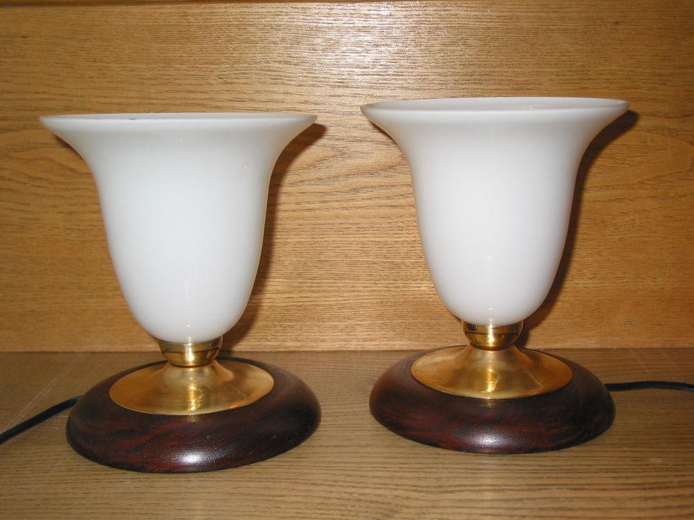 Paire de 2 lampes style MAZDA haut=19 x 16 de diamètre cheve 140 Marseille 13 (13)