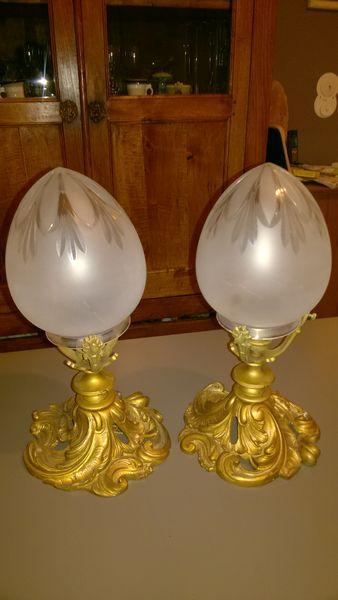 Paire de suspensions lanternes anciennes 320 Pau (64)