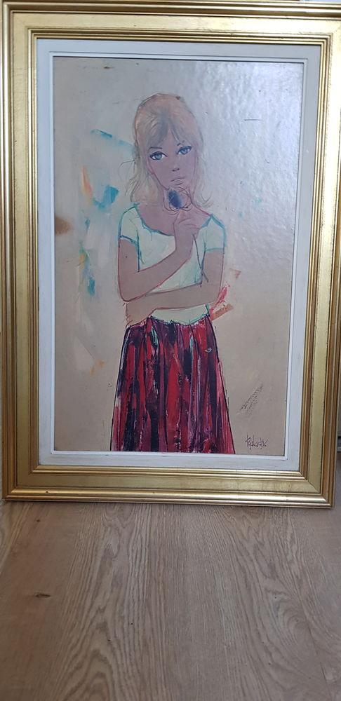 Paire tableaux jeune fille et jeune homme 0 Saint-Jean-de-Luz (64)