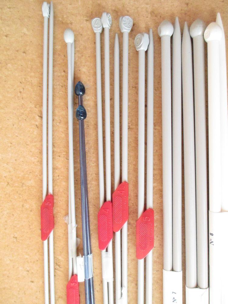 9 paires aiguilles à tricoter (perlac....) 10 Alfortville (94)