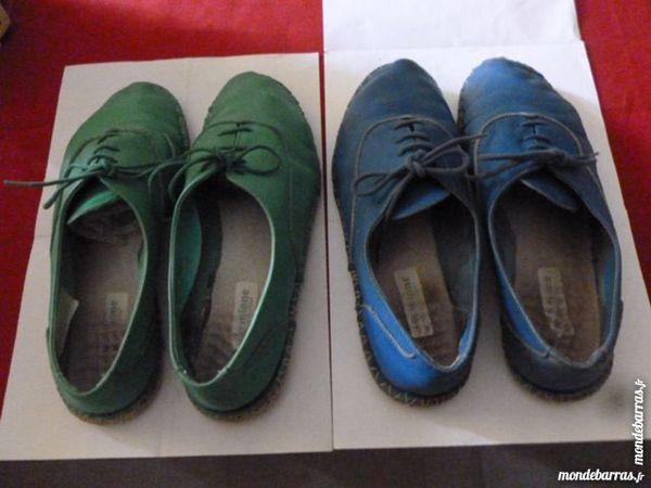 2 paires d'espadrilles bleue et verte 6 Thiais (94)