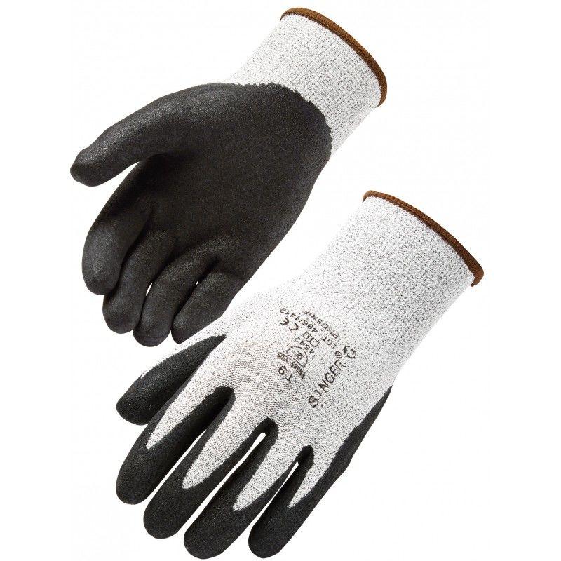 6 paires de gant de travail anti coupure enduite nitrile mousse taille 9 SINGER 30 Lens (62)