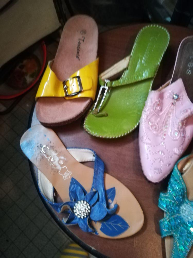 Lot de 6 paires de nu pieds 10 Pantin (93)