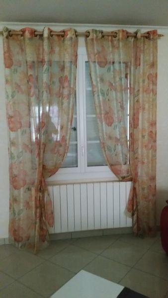 3 paires de rideaux avec tringles 50 Annoire (39)
