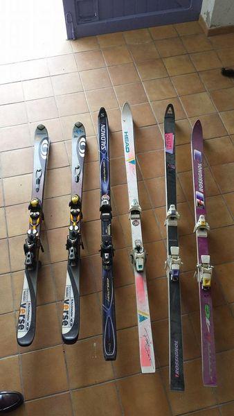 5 paires de skis d'occasion 120 Aubignosc (04)