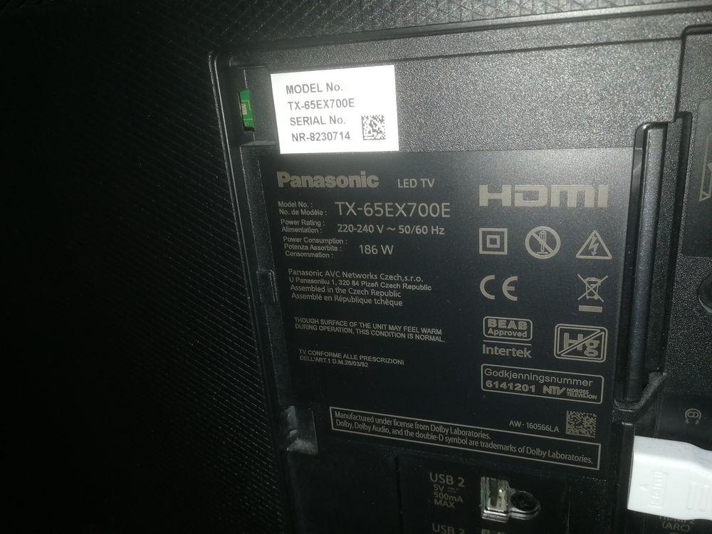 Panasonic tx65 ex 700e TV led 0 Argenteuil (95)