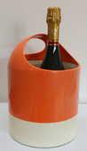 Panier corbeille orange et blanc époque Knoll 50 Paris 14 (75)