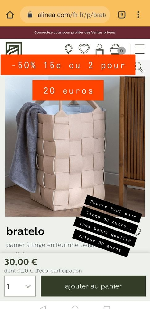 Panier a linge 10 Tourcoing (59)