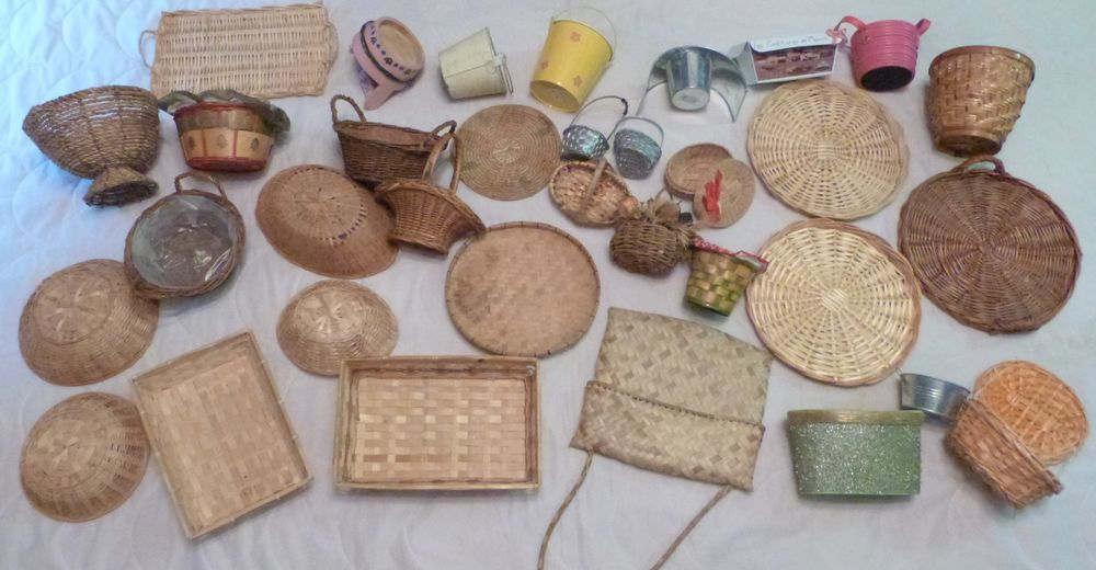 Paniers, corbeilles. osier, bois, galva, metal 1 Écuisses (71)