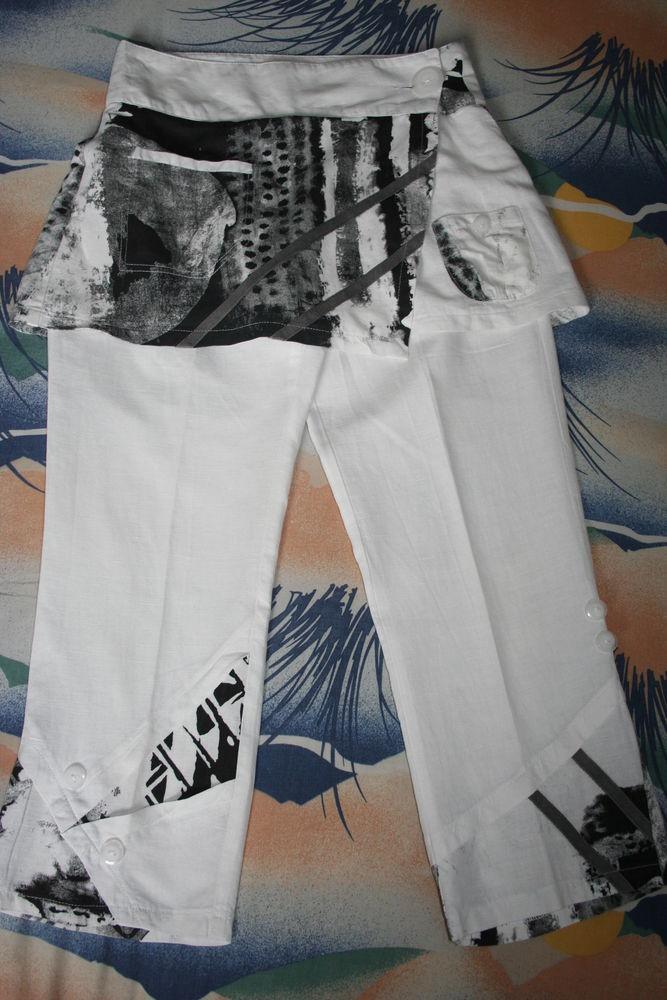 Pantacourt avec jupe lin DPM Femme 34 / 36 MIROTON 10 Tournefeuille (31)
