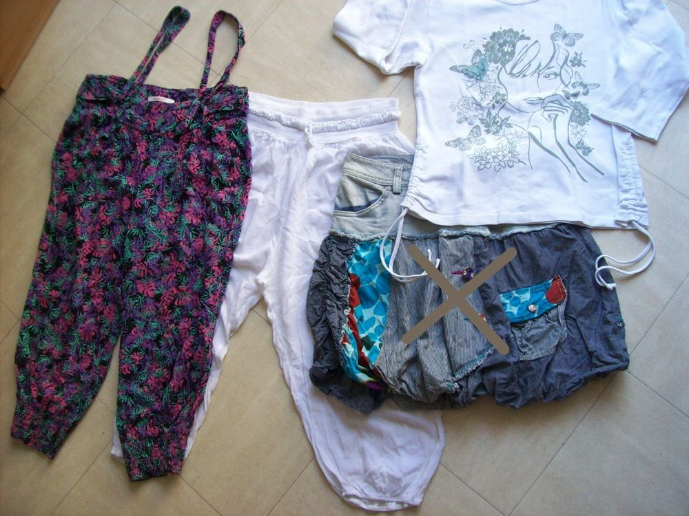 2 pantacourts,1 jupe, 1 t.shirt - 36 - zoe 2 Martigues (13)