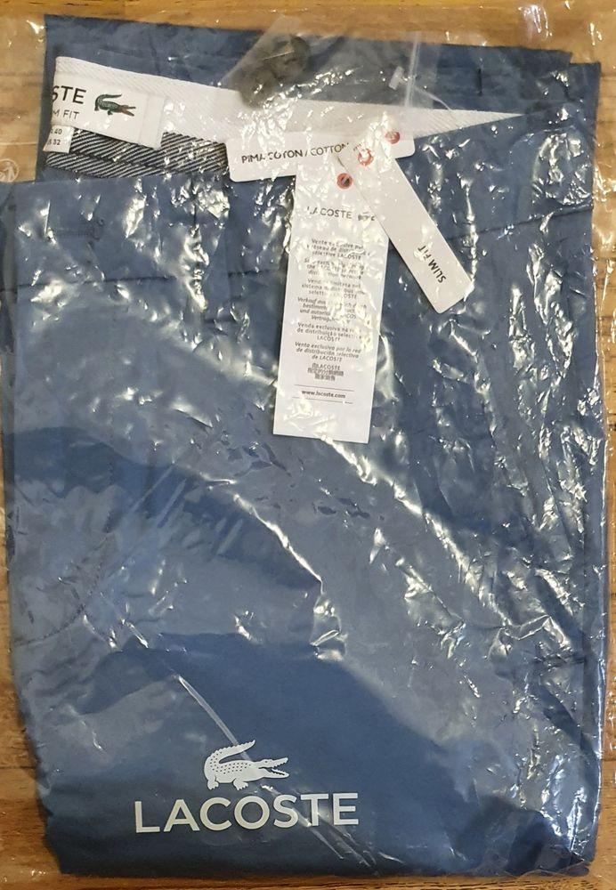 Pantalon bleu Lacoste NEUF Homme taille M 80 Paris 15 (75)