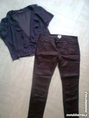pantalon bordeaux -chemisier fin - 38 - zoe 5 Martigues (13)