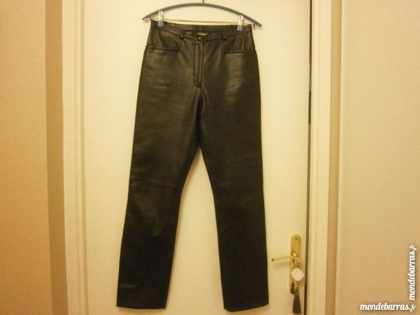 Pantalon cuir noir 30 Corbeil-Essonnes (91)