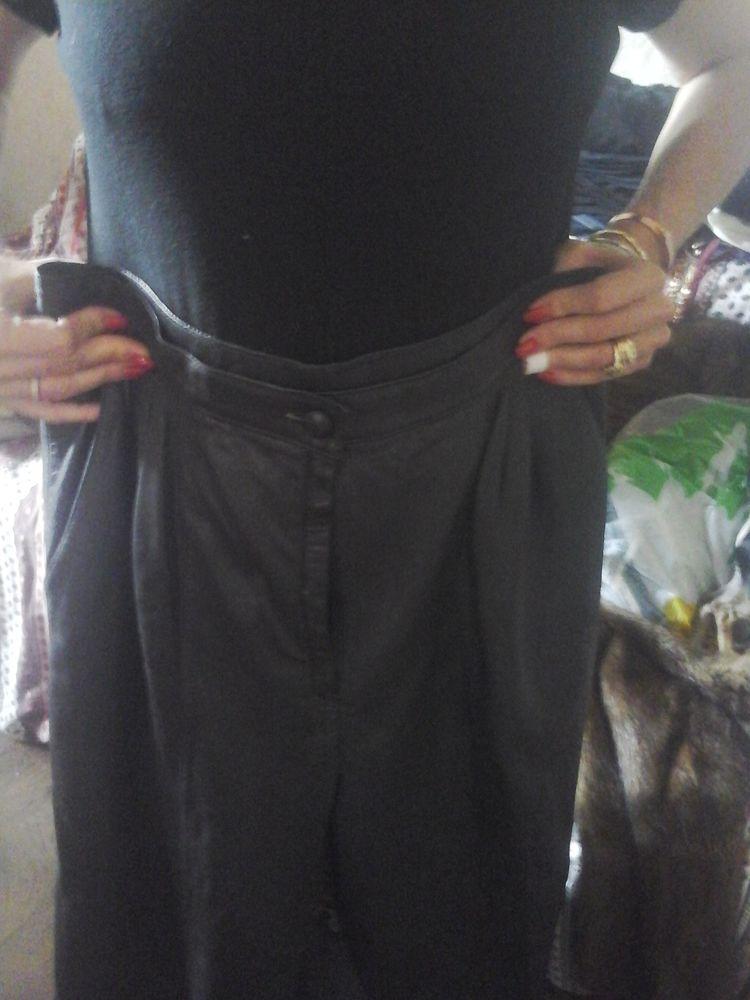 Pantalon cuir noir 30 Nice (06)