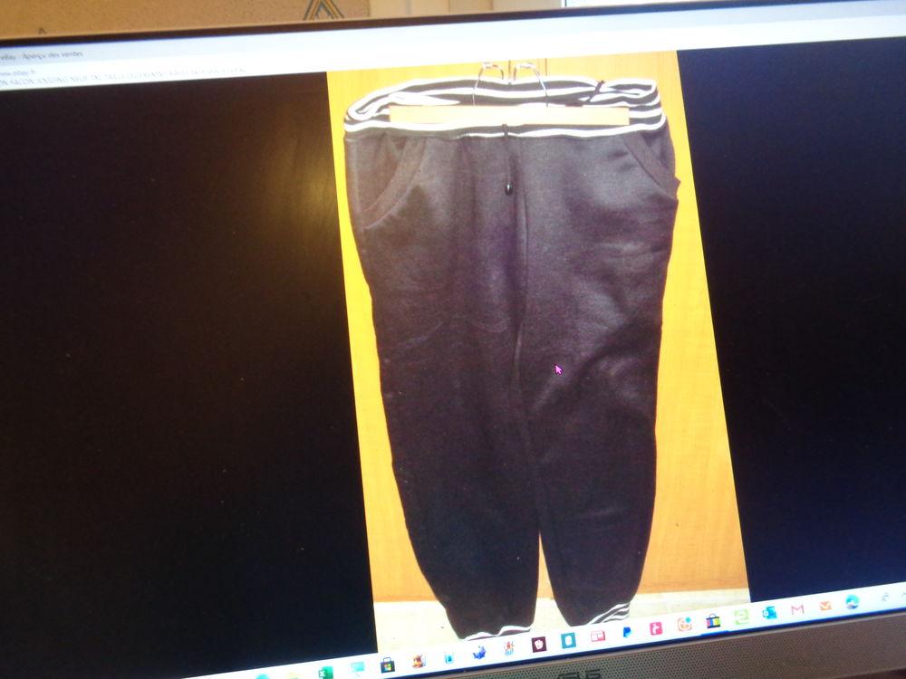 pantalon façon jogging noie la taille et bas rayer blanc txl 10 Argenteuil (95)