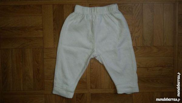 Pantalon de jogging blanc, 6 mois 2 Paris 20 (75)