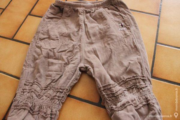 Pantalon marron velours 1 an 10 Wervicq-Sud (59)