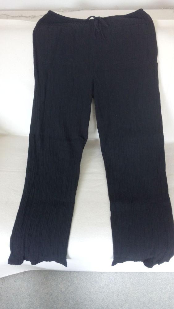 Pantalon F noir gaufré Benetton taille 44 TBE 10 Châtillon (92)