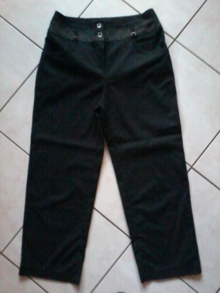 pantalon noir rayé 3 Gamaches (80)