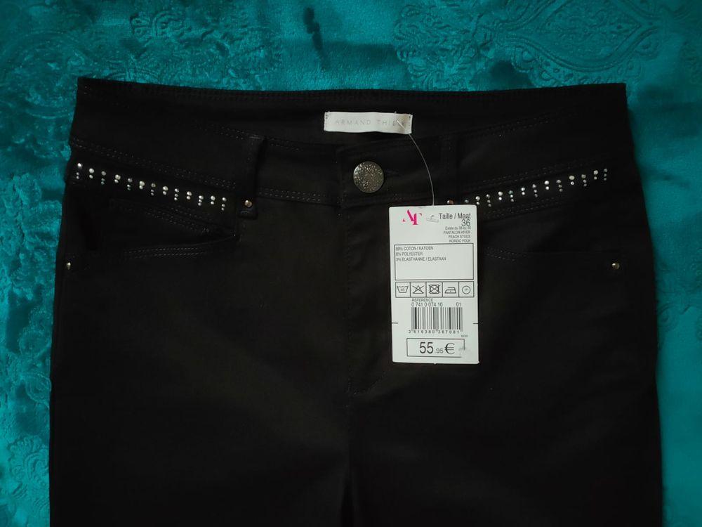 Pantalon stretch noir Armand Thierry neuf - Taille 34/36 25 Montigny-le-Bretonneux (78)