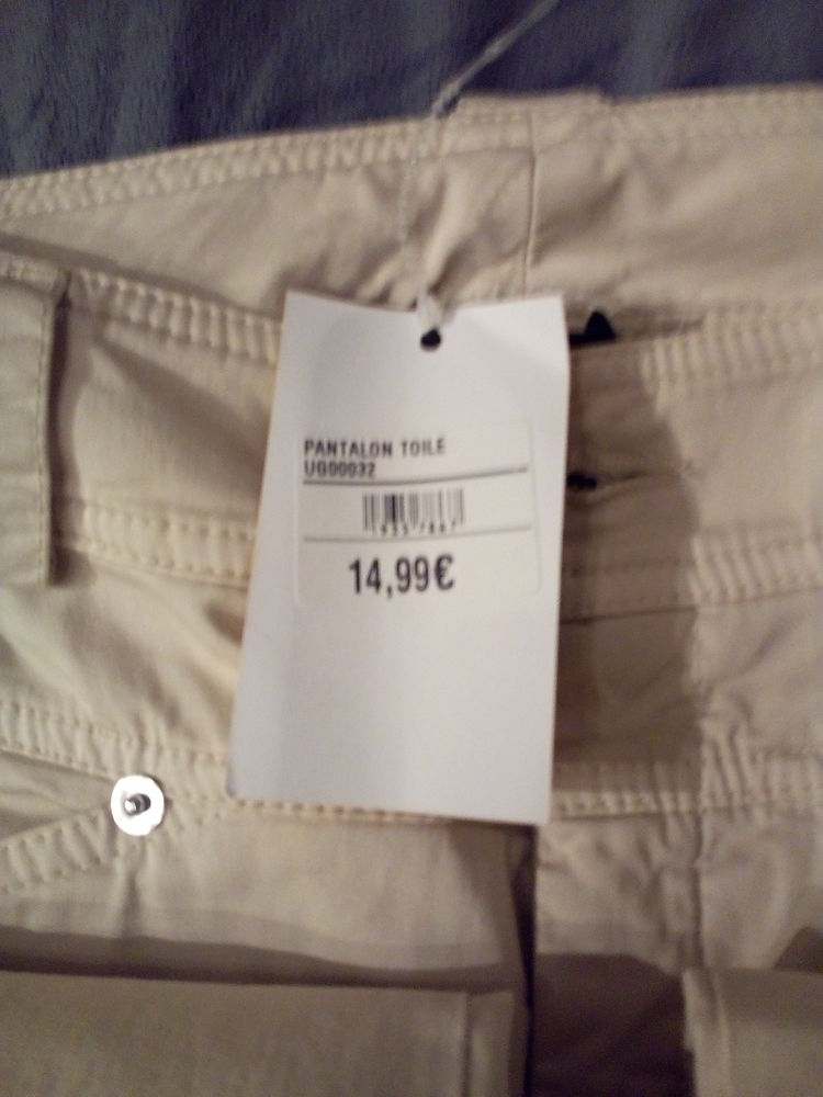 pantalon toile Beige UNGARO FEVER 10 Savigny-sur-Orge (91)