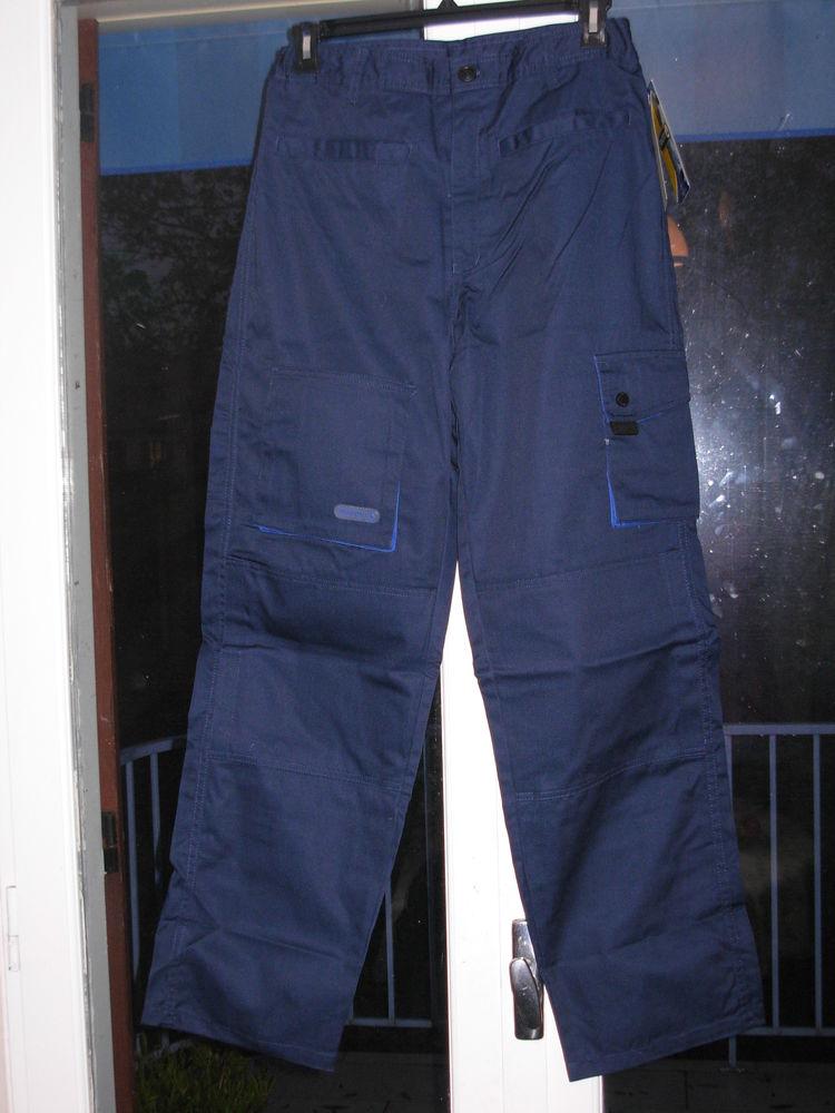 Pantalon de travail homme bleu , NEUF 8 poches taille L 5 Chénérailles (23)