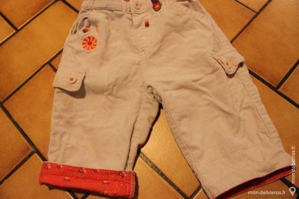 Pantalon velours tex baby 6 mois crème/orange 7 Wervicq-Sud (59)