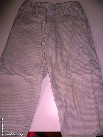 pantalon velours fines cotes blanc pour 3 ans Vêtements enfants