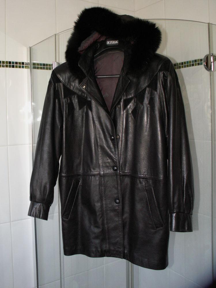 pantalon et veste trois quart en cuir noir 90 Savigny-sur-Orge (91)