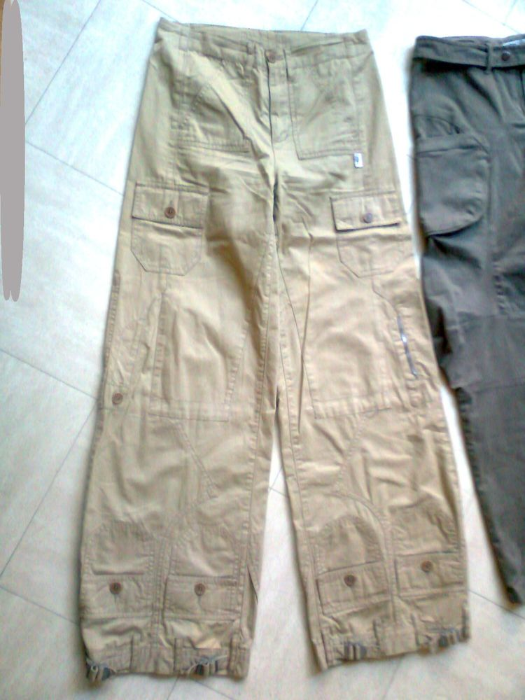 2 pantalons + 1 en croute de cuir - 38 - zoe 4 Martigues (13)
