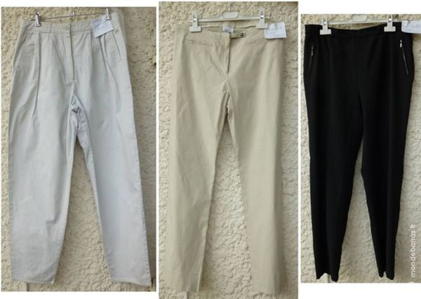 lot de 3 pantalons taille 42 15 Chalon-sur-Saône (71)