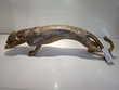 Panthère dorée en résine 65cm