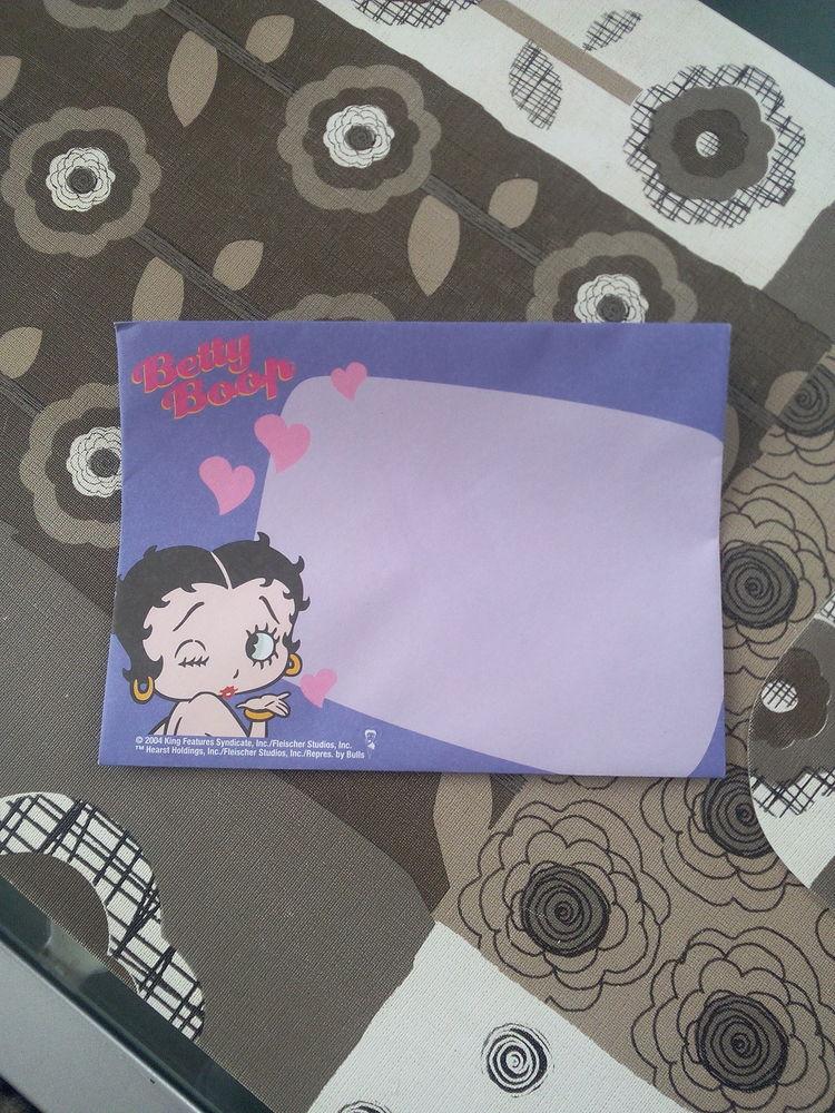 Papier à lettre Betty Boop 0,50 cts 1 Verberie (60)