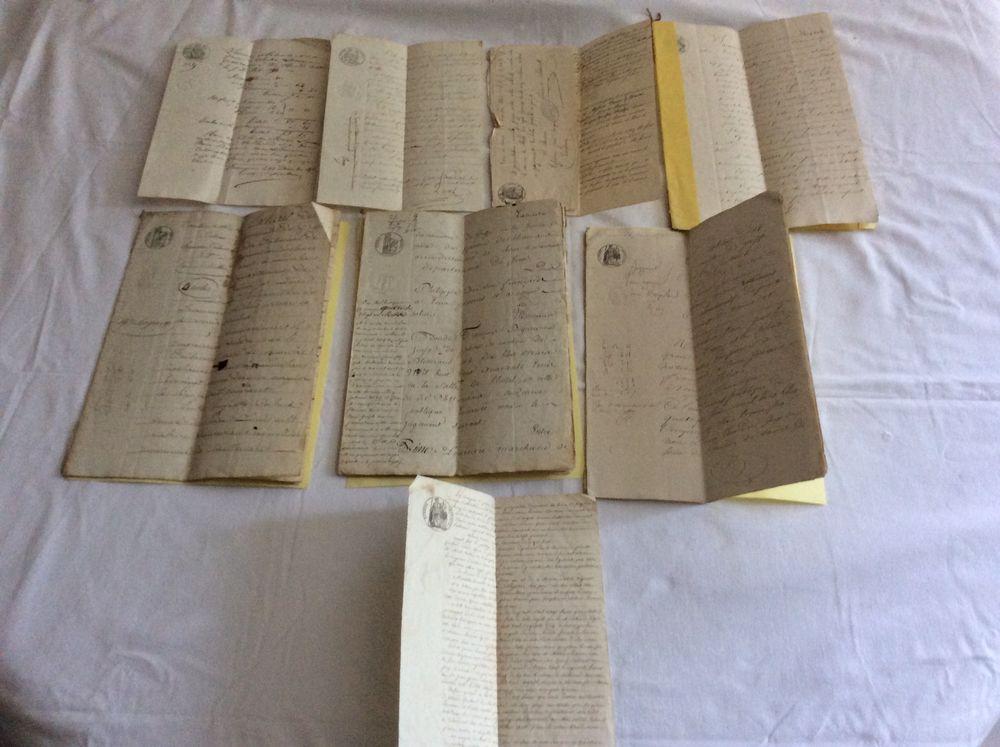 Papiers anciens actes notariés huissier XIXéme 8 documents 40 Gif-sur-Yvette (91)
