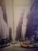 Paravent 3 pans toile photo taxi New York  49 Valence (26)