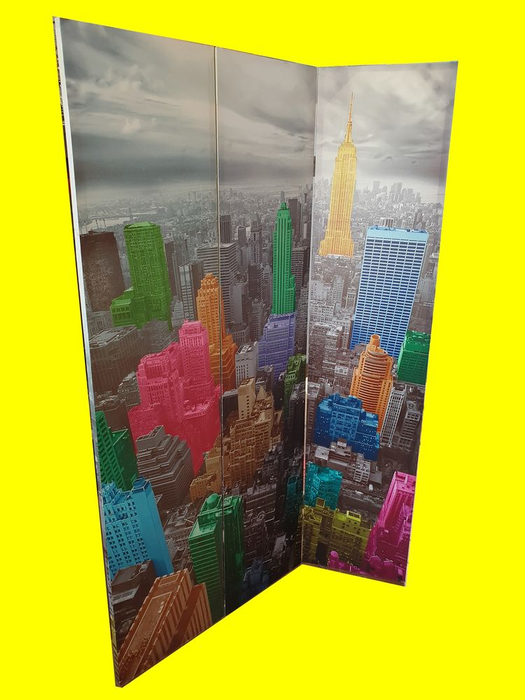 Paravent new york 120 X 180 cm occasion 40 Saint-Pôtan (22)