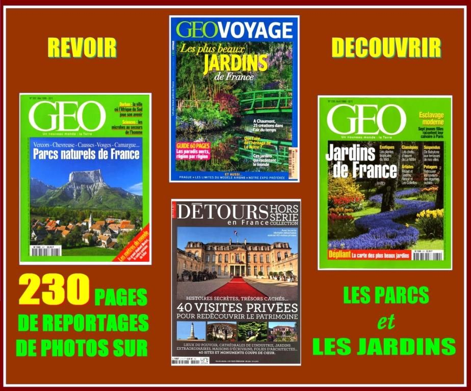 PARCS DE FRANCE - géo - JARDINS DE FRANCE Livres et BD