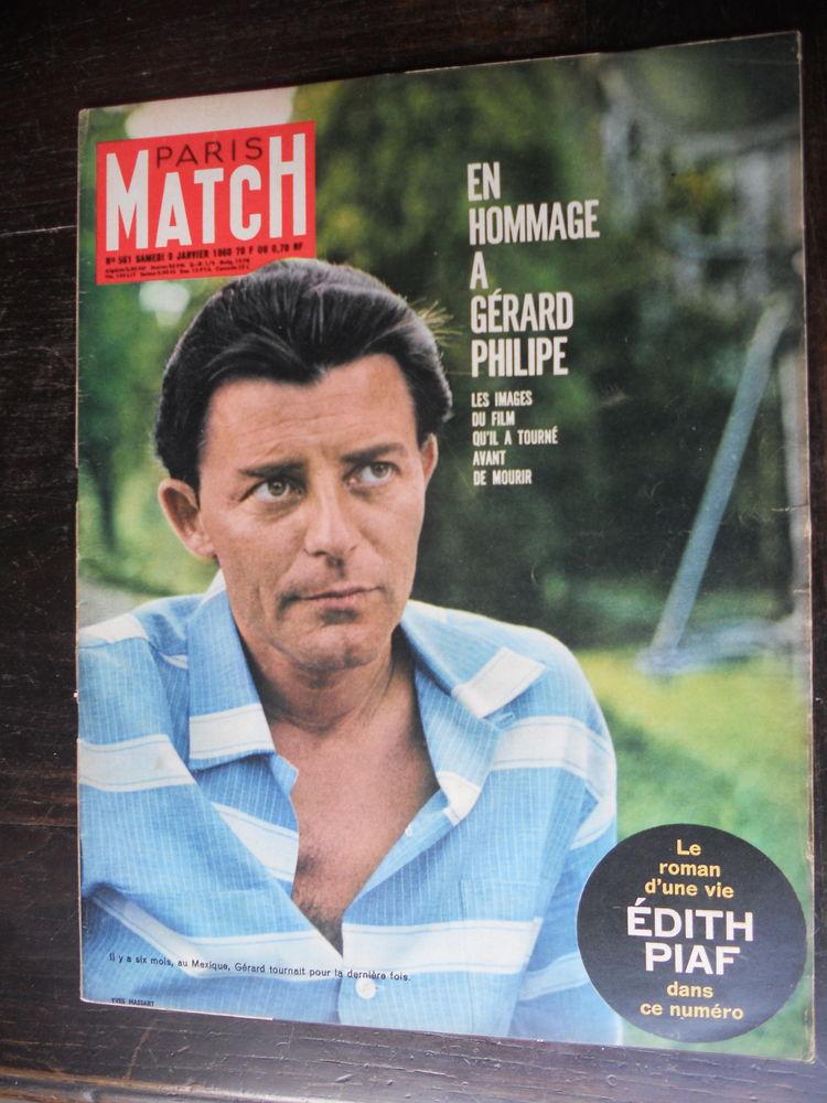 PARIS MATCH EN HOMMAGE A GÉRARD PHILIPE 1960 4 Tours (37)
