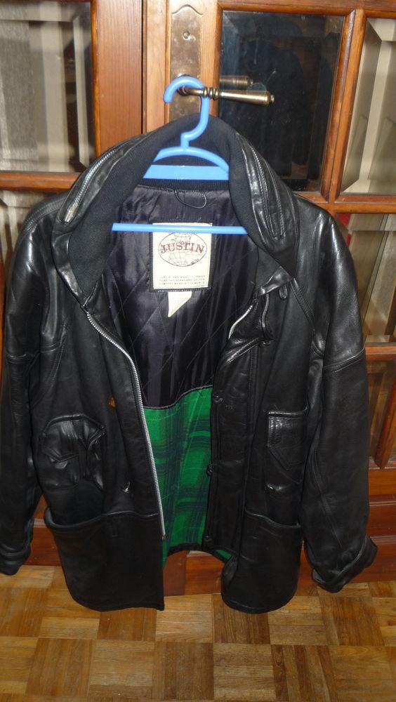 Parka cuir noir Justin 140 Paris 15 (75)