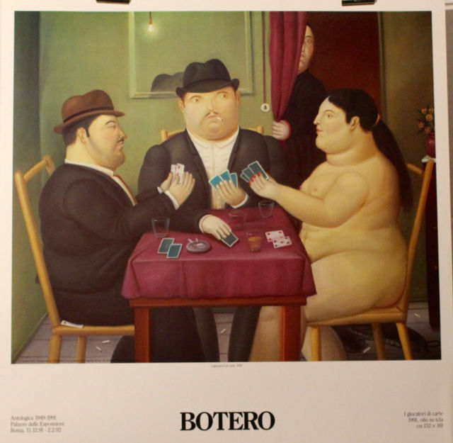 "B o t e r o    ""  la partie de cartes  ""    ( 1991 )"
