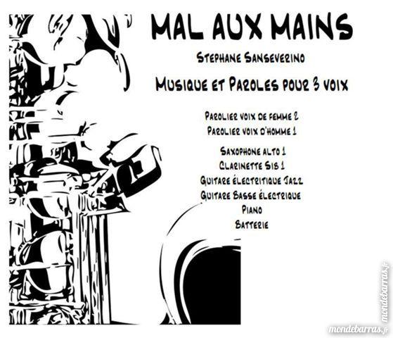 Partition « MAL AUX MAINS » avec chant 3 voix 15 Mimizan (40)