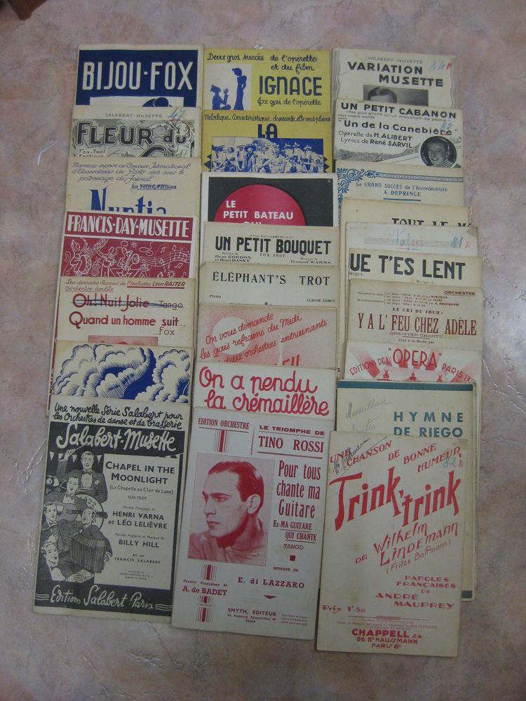 38 Partitions de musique pour accordéon 20 Paris 14 (75)